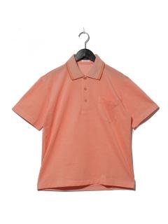 美濃和紙バーズアイ鹿の子半袖ポロシャツ