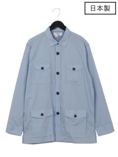 【日本製】Wポケットカバーオールシャツ