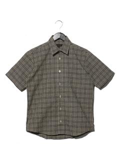 チェツク半袖レギュラーシャツ