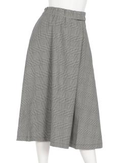 グレンチェックフレアースカート