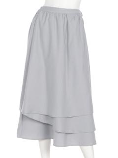 ミディ丈ラップスカート