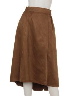 フェイクスウェードロングスカート