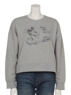 Mickey/earthスウェットプルオーバー