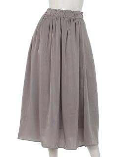 スウェード調ギャザースカート