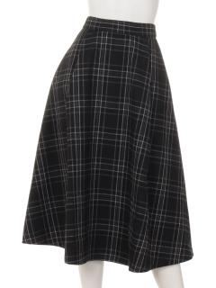 チェックタックフレアースカート