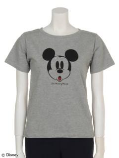 mickey/earth ベーシックTシャツ