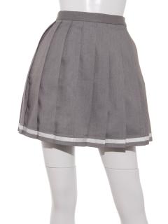 KANKO×earth ラインプリーツスカート