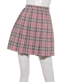 KANKO×earth チェックプリーツスカート