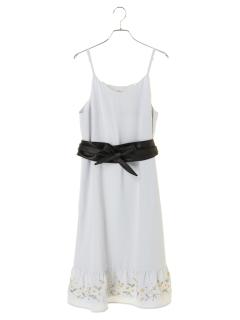 SET2点 裾刺繍キャミワンピース+ベルト