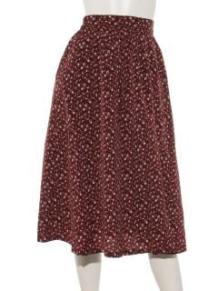 花柄ロングギャザースカート
