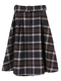 ・ビックチェックフレアースカート