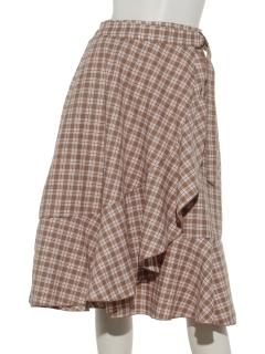 チェックラップ風スカート