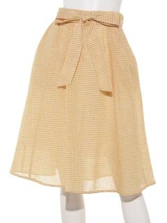 ギンガムチェックフレアースカート