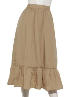 フリル切り替えスカート