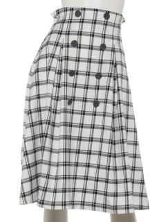 ダブル前釦スカート