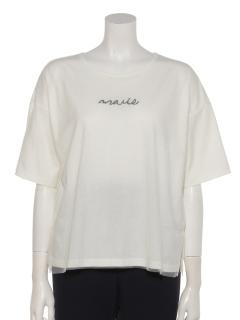 刺繍チュールTシャツ