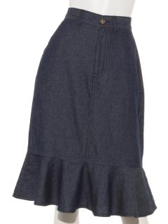 マーメイドラインデニムスカート