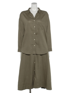 SET2点抜け衿シャツ+前ボタンスカート