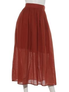 フレンチリネン混スカート
