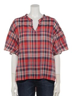 綿レーヨンスキッパーシャツ