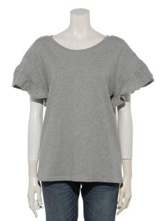 フリルスリーブTシャツ