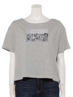 フォトプリントワイドTシャツ