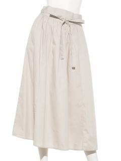 Vカーブウエストギャザースカート