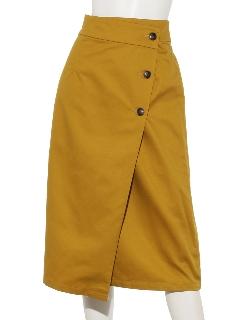 サイドボタンラップスカート