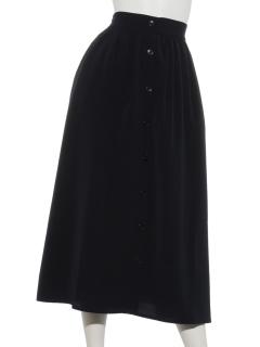 フロント釦スカート