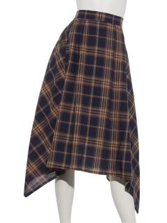 フレンチリネンブレンドアシッドマドラススカート