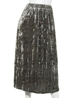 SLFクラッシュベロアギャザースカート