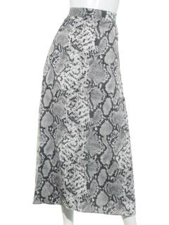 SLPパイソン柄フレアスカート