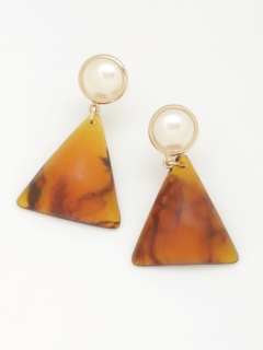 【TRUNK SHOW】三角べっ甲ピアス