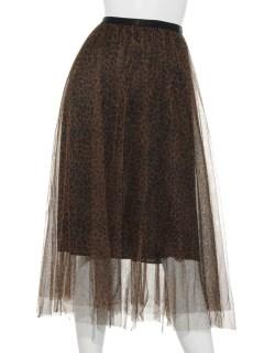 SLYレオパードチュールスカート