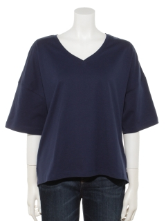 オーガニックコットンビッグVネックTシャツ