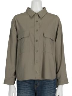 ポケット付き羽織りシャツ
