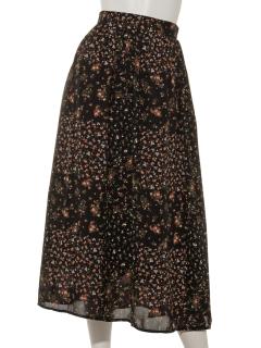 ミックスパターンフラワースカート