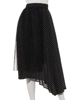 チュールレイヤードプリーツスカート