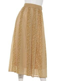 Mixパターンフラワースカート