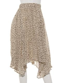 アニマルプリント変形プリーツスカート