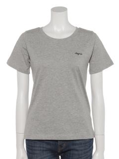 ミニロゴ刺繍オーガニックコットンTシャツ