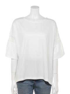袖細レースTシャツプルオーバー