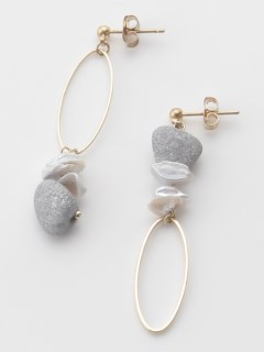 【TRUNK SHOW】淡水パール風と楕円のピアス