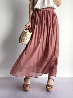 綿楊柳ギャザーマキシスカート