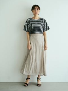 SET2点ボーダーカットソー+スカート