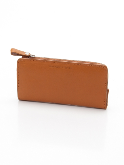 MACARONIC STYLE (マカロニックスタイル) メンズ本革長財布 キャメル