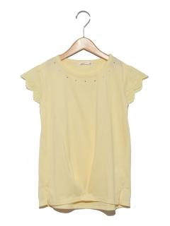 HソデレースTシャツ
