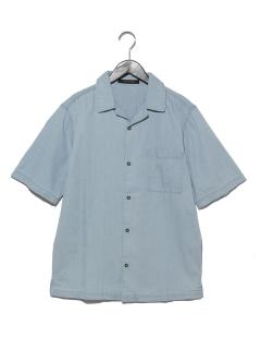 デニムオープンカラーシャツ