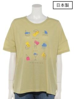 【日本製】接触冷感 プリントTシャツ