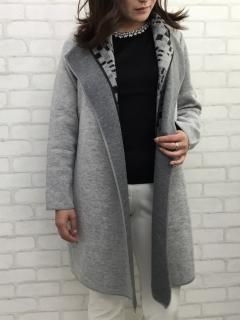 2枚衿 ニットジャケット